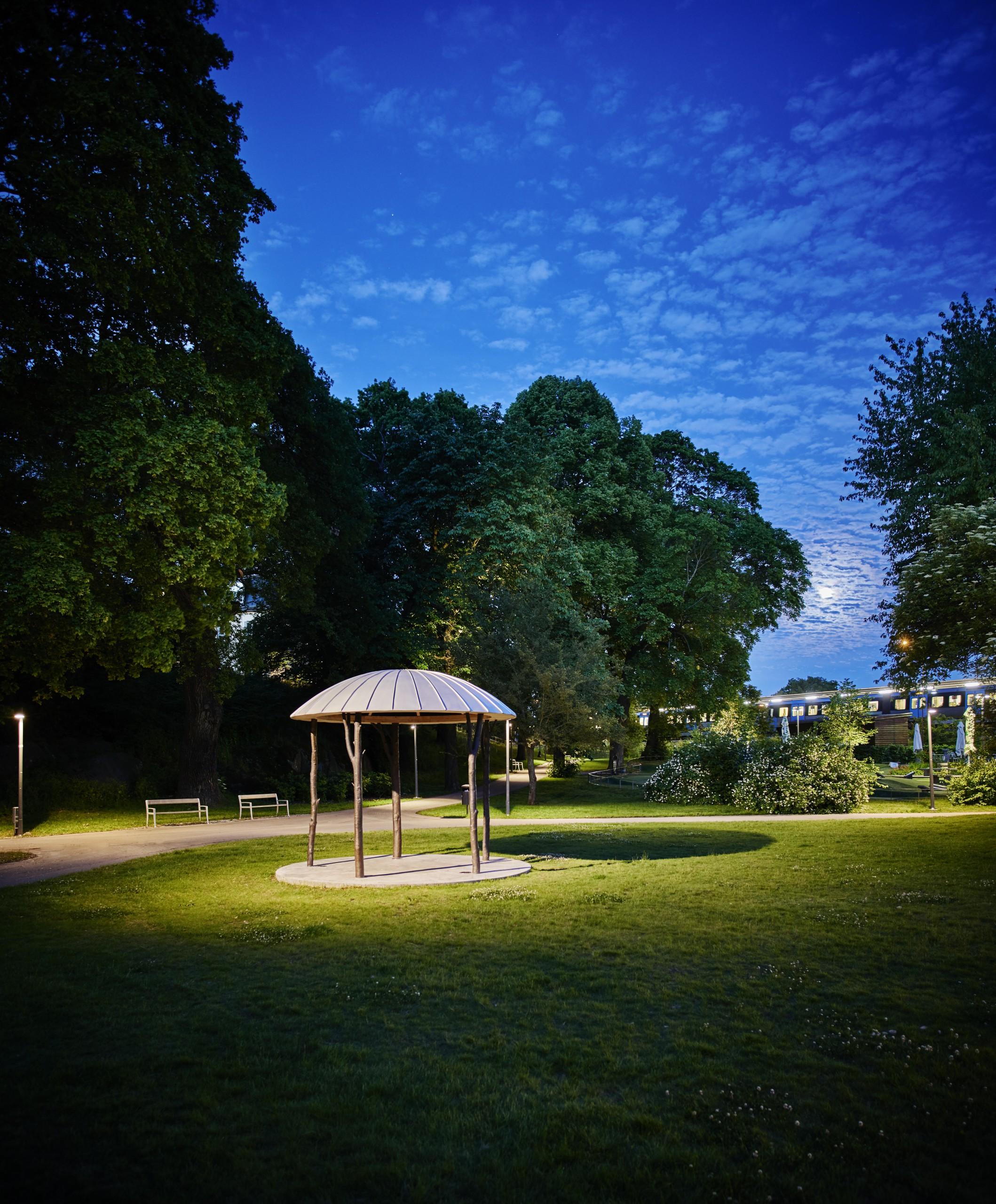 park at night